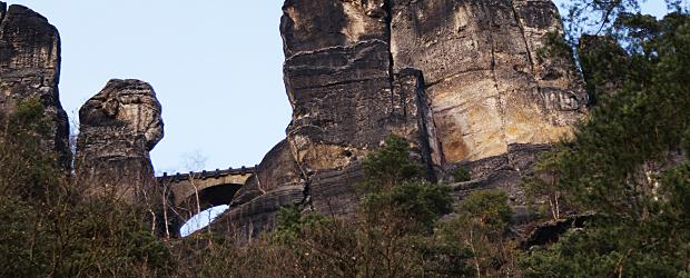 Weltberühmte Basteibrücke