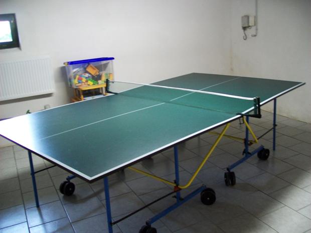Tischtennisplatte im Keller des Haus Heidi Rathen