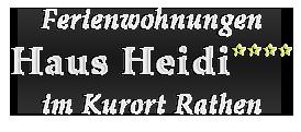 Ferienwohnungen im Haus Heidi Rathen
