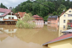 Hochwasser 2013 im Kurort Rathen